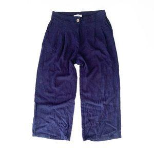 Modern Citizen Linen Blend Wide Leg Crop Pants   S